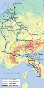 Fietsroutes naar Italië 2016